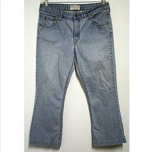 Levi Womens 14 Short Blue Jeans Low Rise Bootcut